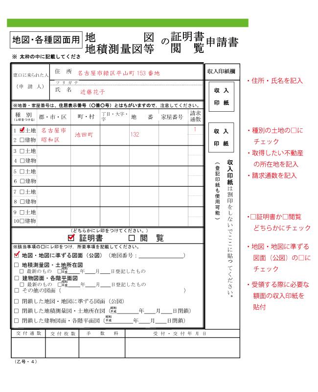 登記事項証明書・全部事項証明書 申請書